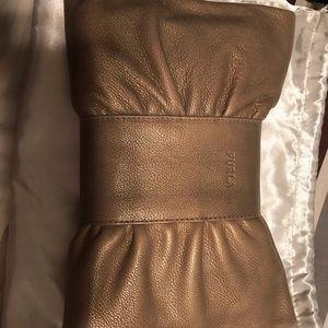 Furla clutch bronze color